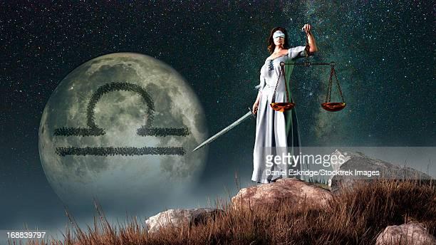 ilustrações, clipart, desenhos animados e ícones de libra is the seventh astrological sign of the zodiac. its symbol is the scales. - balança