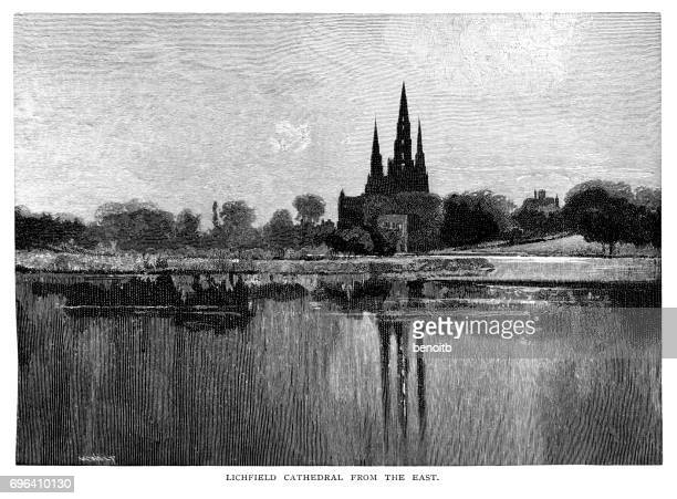 Lichfield Cathedral from the east