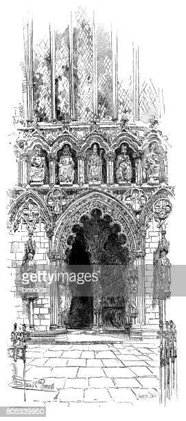 Lichfield cathedral main doorway