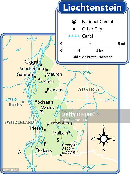 Liechtenstein country map