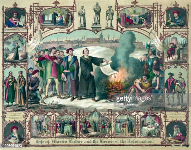 life of martin luther (1483-1546) - german culture stock illustrations
