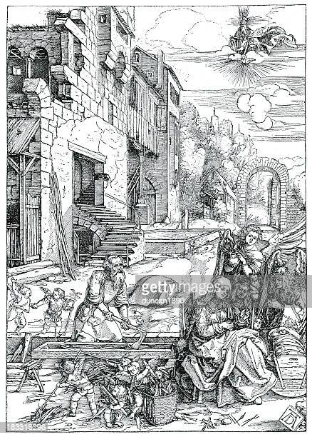 life of the virgin - high renaissance stock illustrations
