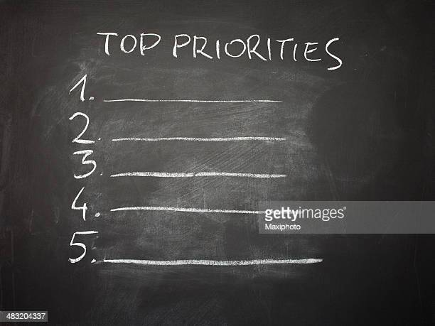 life top priorities - list stock illustrations, clip art, cartoons, & icons