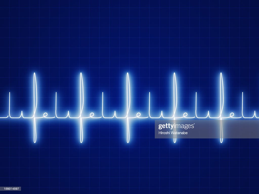 """"""" Life """" written with heart rate graph : stock illustration"""