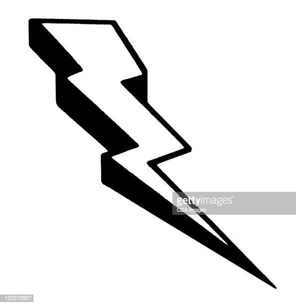 ilustraciones, imágenes clip art, dibujos animados e iconos de stock de lightening bolt - vertical