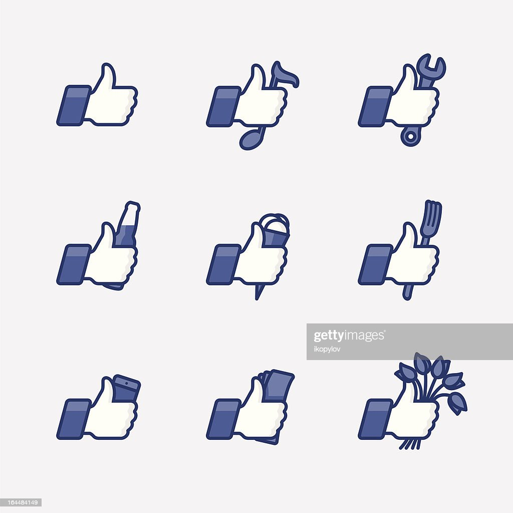 Like/Thumbs Up symbol icons