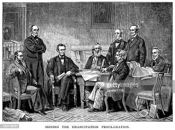 Lincoln Signs Emancipation Proclamation