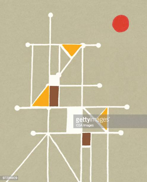 line abstraction - angle stock illustrations