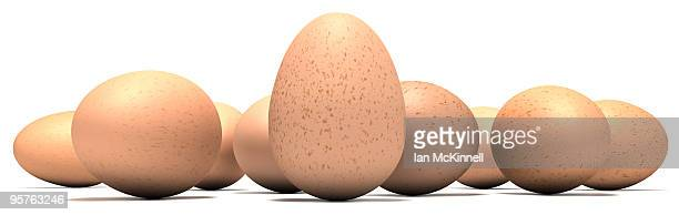 a line of eggs - medium group of objects stock illustrations, clip art, cartoons, & icons