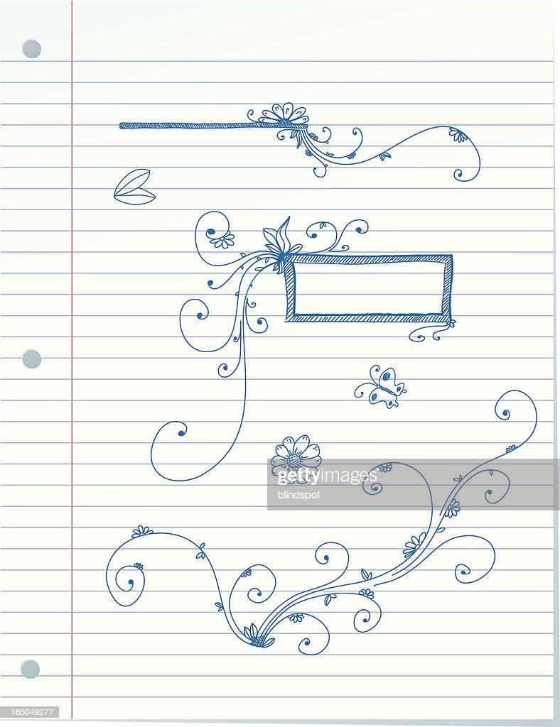 Linie Papier Skizzen Vektorgrafik | Getty Images
