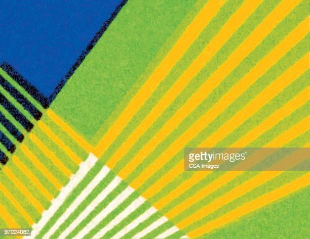 line pattern - colour block stock illustrations