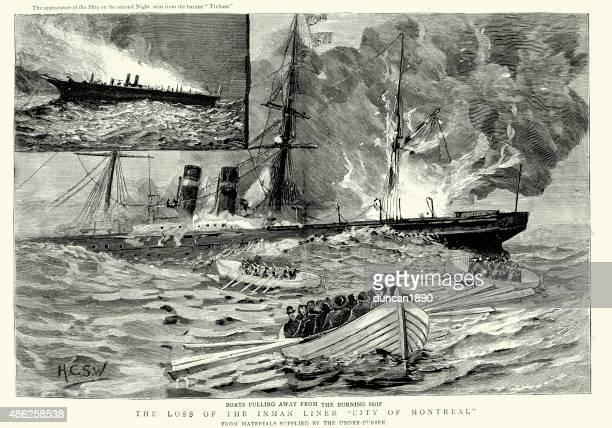 Revestimento naufrágio SS-A cidade de Montreal