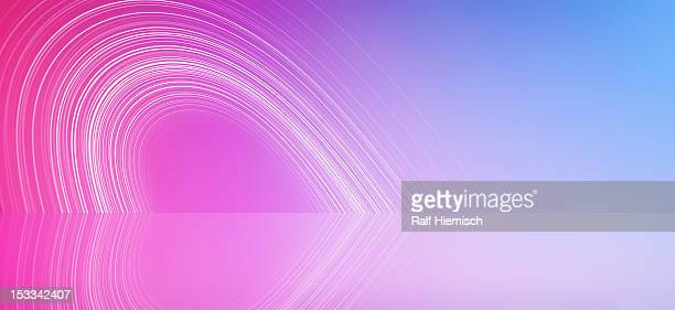 lines forming a heart shape against an abstract background - colour gradient stock illustrations