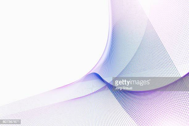 lines forming abstract shapes - technology stock illustrations