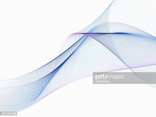 lines forming an abstract shape - technology stock illustrations