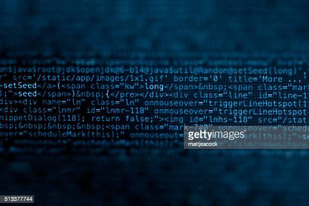 Lines of digital data code