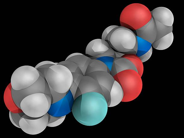 Linezolid Drug Molecule Wall Art