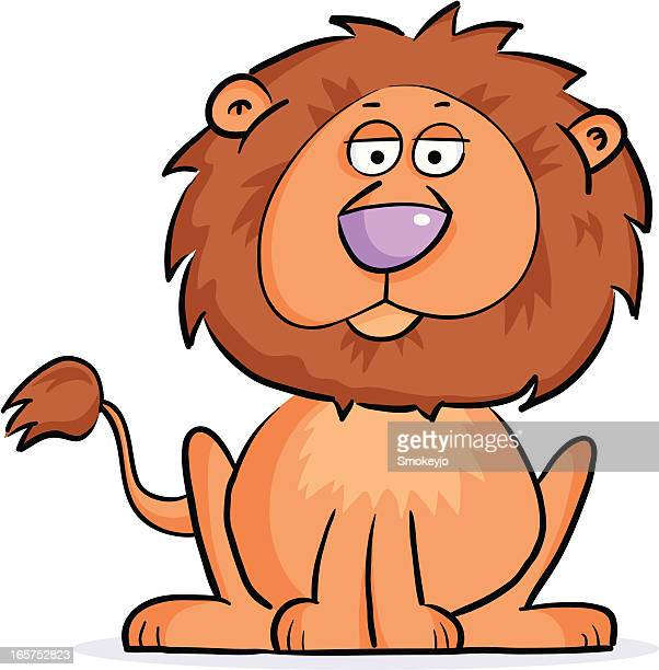 lion - cartoon characters with big noses stock illustrations, clip art, cartoons, & icons