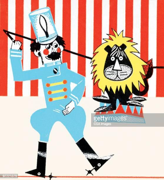 lion tamer - uniform stock illustrations