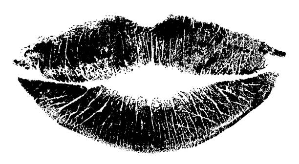 lipstick mark - lips stock illustrations