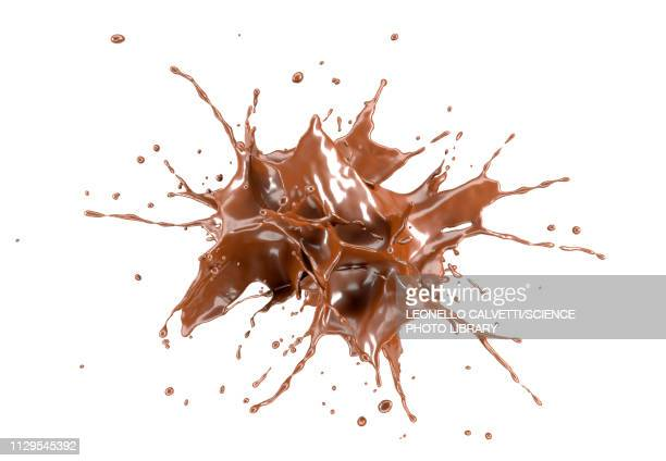 liquid chocolate explosion, illustration - food and drink stock illustrations