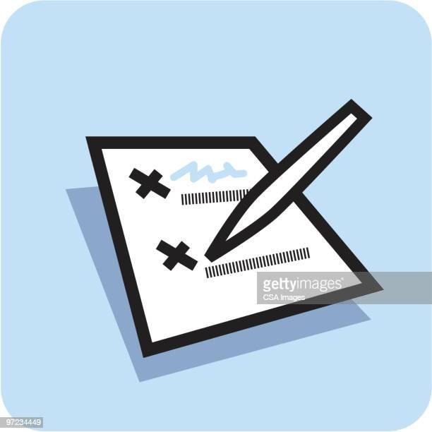 list - voting ballot stock illustrations