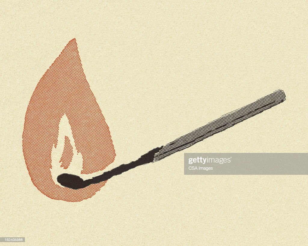 Lit Match : Stock Illustration
