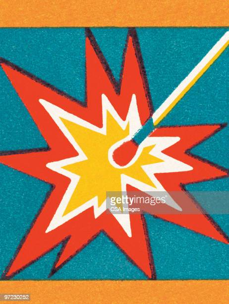 lit match - sparks stock illustrations, clip art, cartoons, & icons
