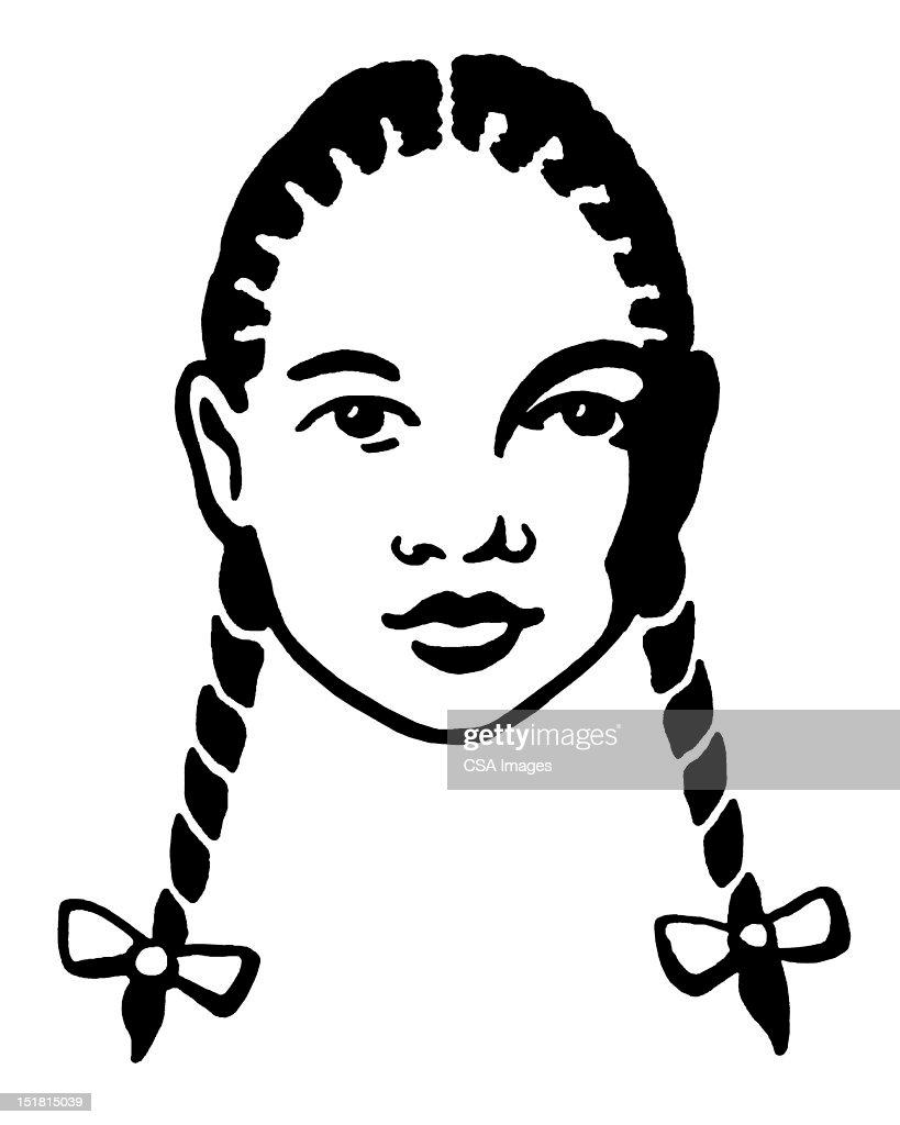 Little African American Girl : stock illustration