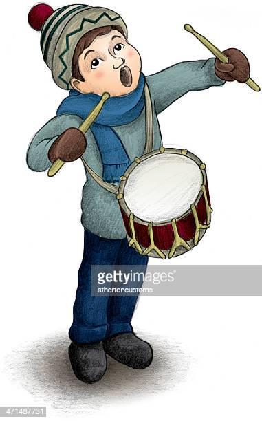 little drummer boy - snare drum stock illustrations, clip art, cartoons, & icons