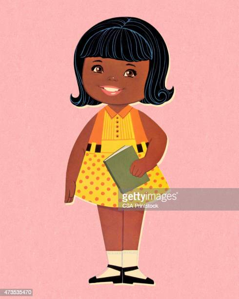 Little Girl Holding Book