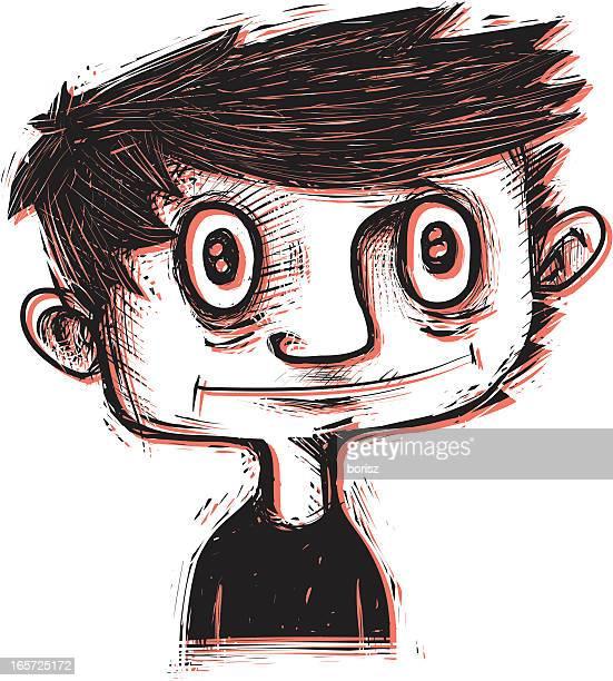 illustrations, cliparts, dessins animés et icônes de petit enfants - cheveux