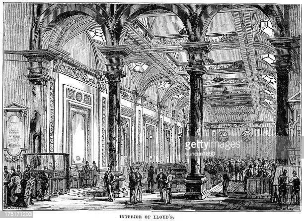 lloyd's of london - vintage stock stock illustrations