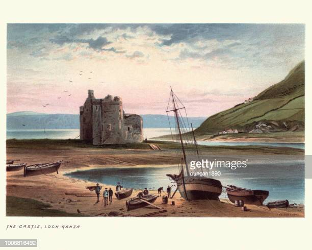 Lochranza Castle, Isle of Arran in Scotland, 19th Century