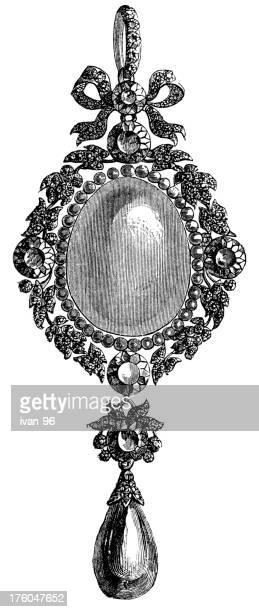 locket - obsolete stock illustrations