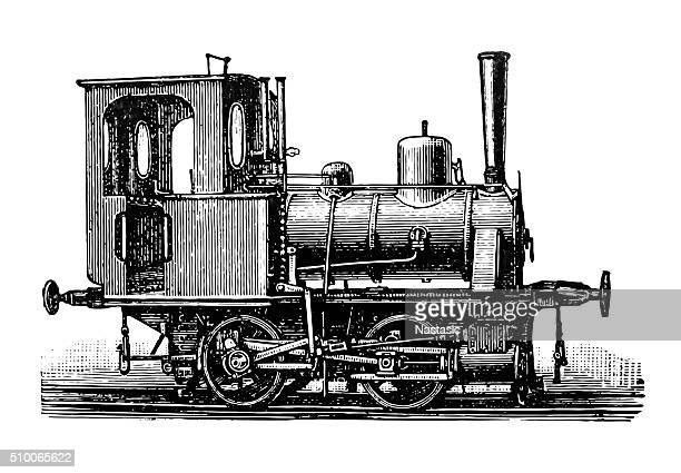stockillustraties, clipart, cartoons en iconen met locomotive - contraptie