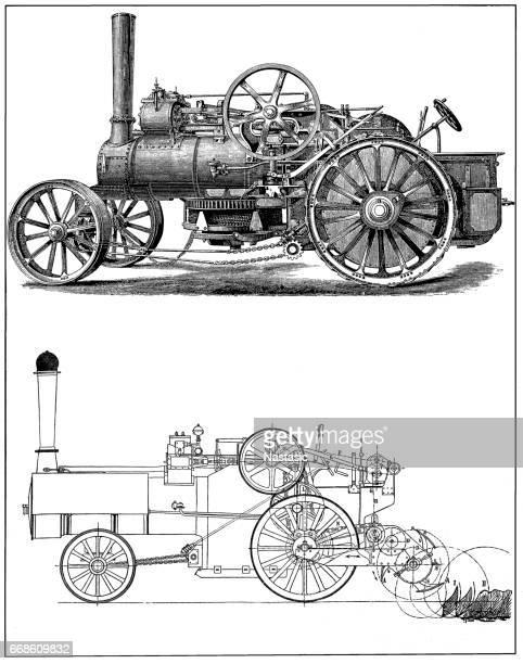 steam engine train from 1800s