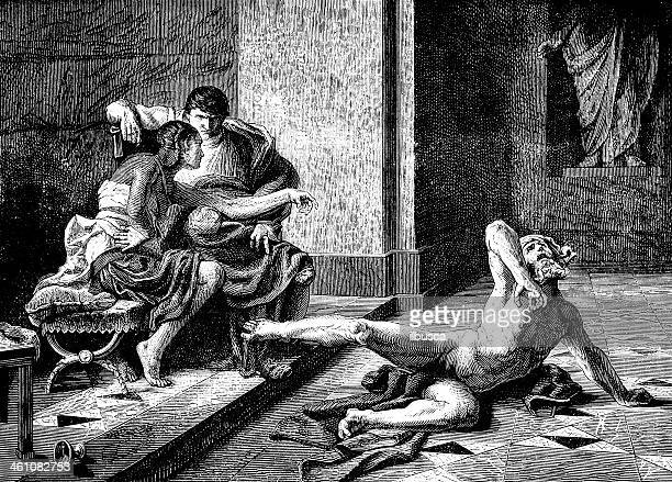 locust and nero by sylvestre - emperor stock illustrations, clip art, cartoons, & icons