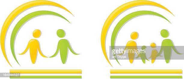 ilustrações, clipart, desenhos animados e ícones de logotipo - semicírculo