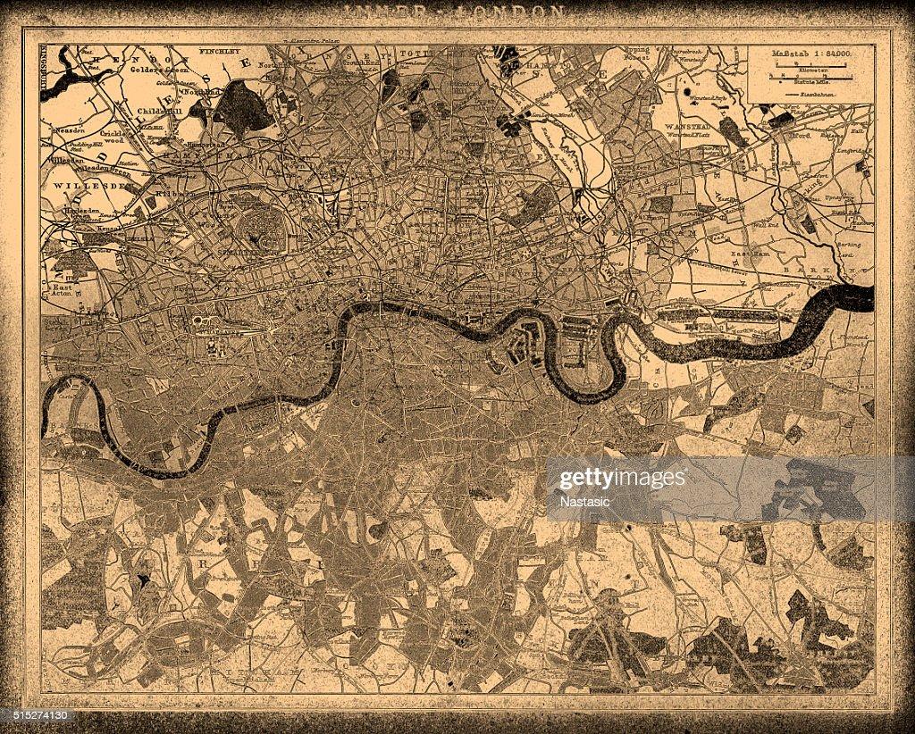 ロンドンシティマップ : ストックイラストレーション