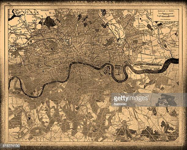 stadtplan von london - london und umgebung stock-grafiken, -clipart, -cartoons und -symbole