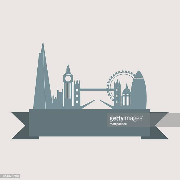 London city skyline with banner