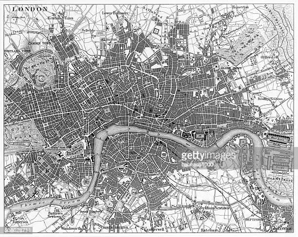 London, England Circa 1850 Engraving