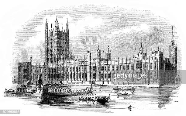 London Houses of Parliament 1844