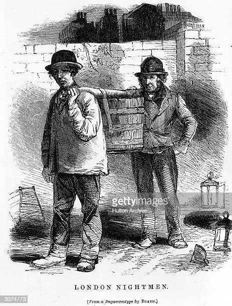 London Nightmen from a daguerreotype by Beard for an article by Henry Mayhew. Illustration from 'London Labour and London Poor' by Henry Mayhew in...
