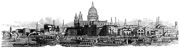 London Skyline 1877 St Pauls Cathedral Retroimages Framed Print Canvas Aluminum Acrylic From 88