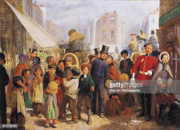 london street scene - army soldier stock illustrations