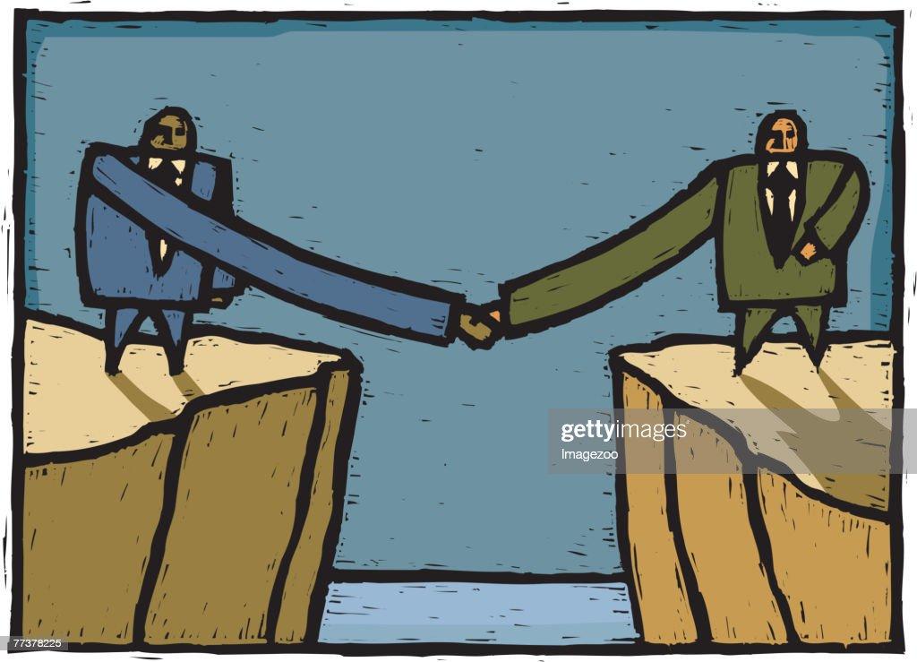 long handshake : Illustration