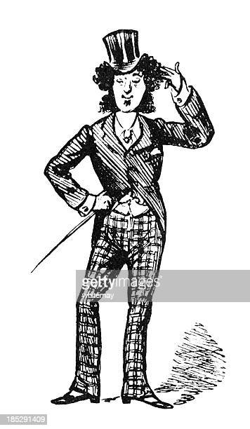 Long-haired Victorian dandy