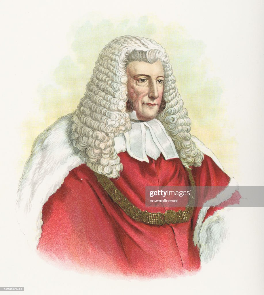 Lord Chief Justice John Campbell, 1. Baron Campbell - 19. Jahrhundert : Stock-Illustration